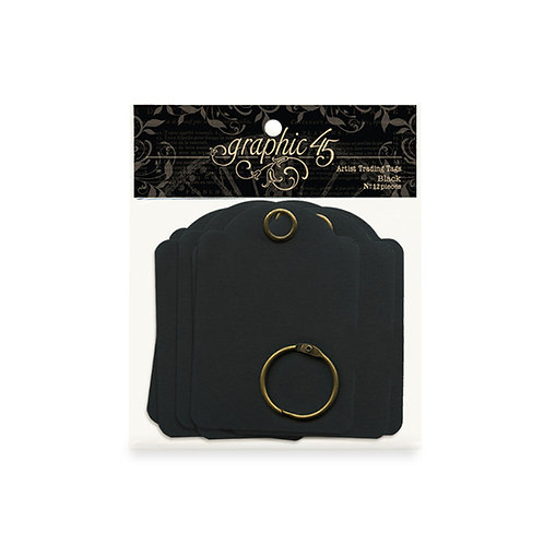 Graphic 45  Artist  Trading tags- Black