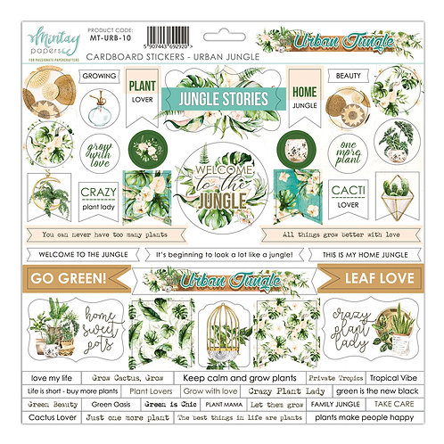Mintay's Urban Jungle 12x12 cardboard stickers