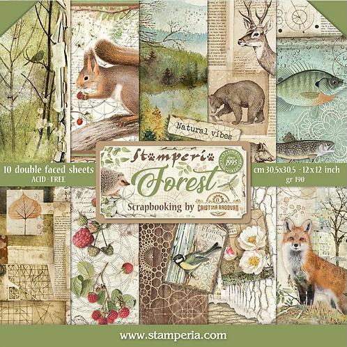 Stamperia Forest Scrapbook Paper Pad 12x12 - Cardstock