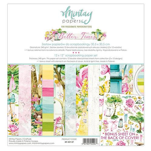 Mintay Better Times 12 x12 Paper Set
