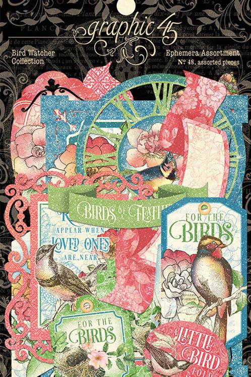 Graphic 45 Bird Watcher Ephemera
