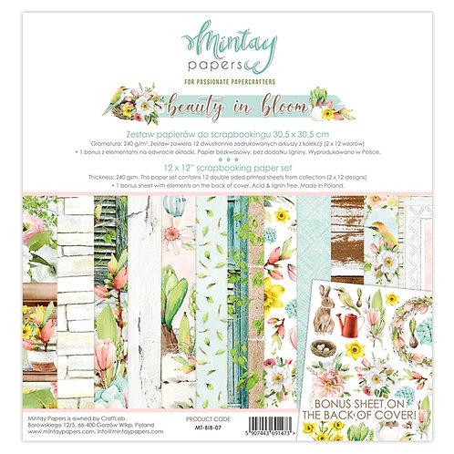 Mintay Beauty in Bloom 12 x 12 Paper Kit