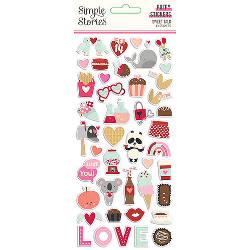 Simple Stories Sweet Talk Puffy Stickers