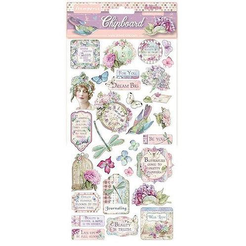 NEW Hortensia Chipboard - Stamperia - Hortensia Chipboard
