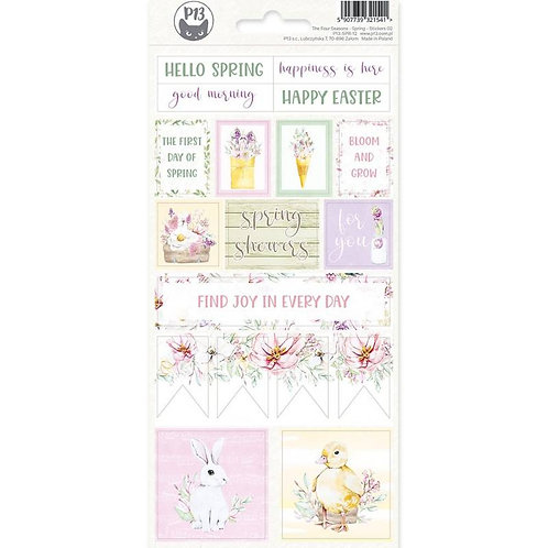 P13 - The Four Seasons Collection - Cardstock Sticker Sheet - Spring 02