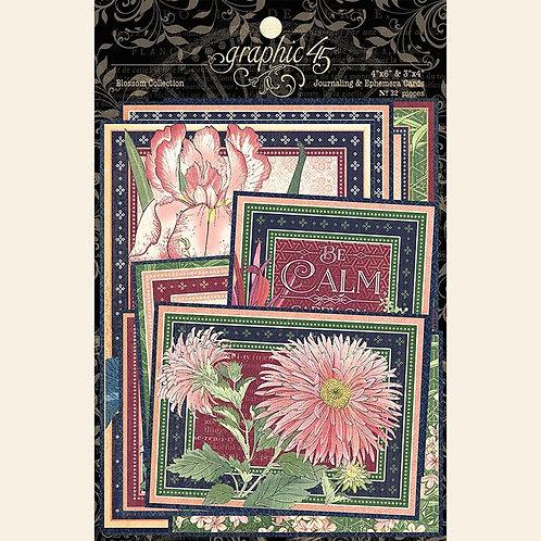 Graphic 45 Blossom Ephemera & Journaling Cards