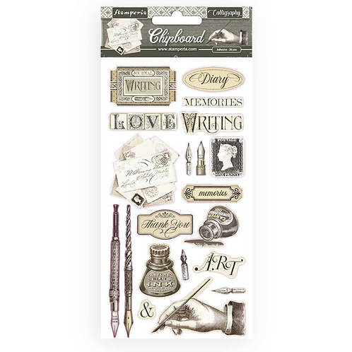 Stamperia Calligraphy Chipboard