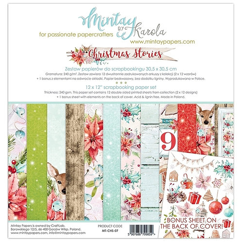 Mintay's Christmas Stories 07 12 X 12 Paper Set