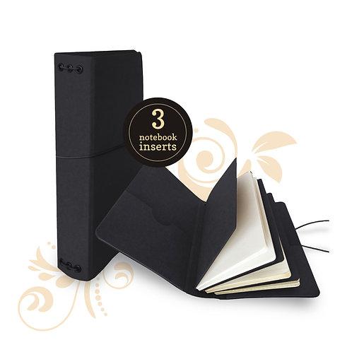 Travel Album with Notebook Set Black