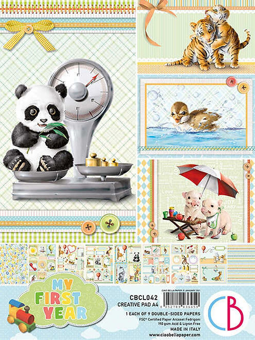 Ciao Bella My First Year Crative Pad 9/Pkg