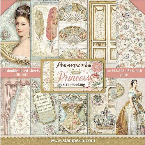 New Stamperia Princess Scrapbook Paper Pad 12x12 - Cardstock
