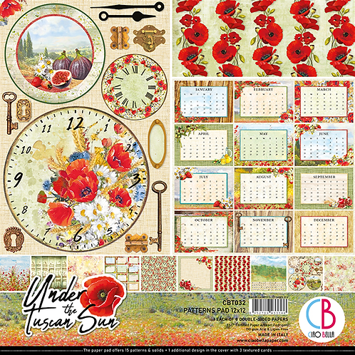 Ciao Bella Under the Tuscan Sun Patterns Pad