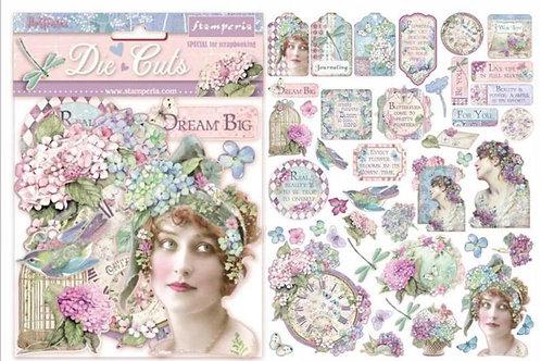 New Stamperia Hortensia Assorted Die Cut