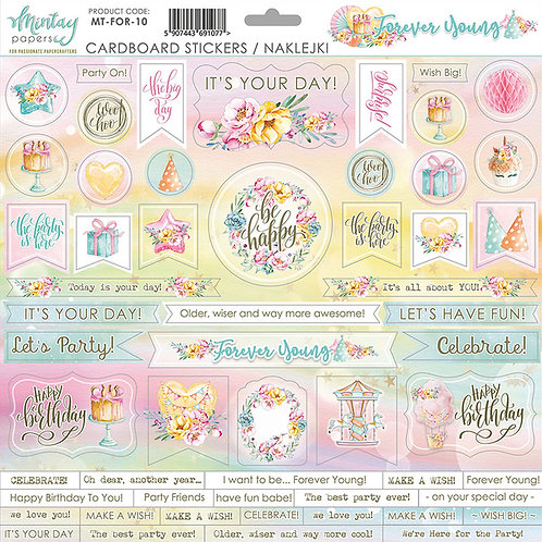 FOREVER YOUNG 12 X 12 CARDSTOCK STICKERS