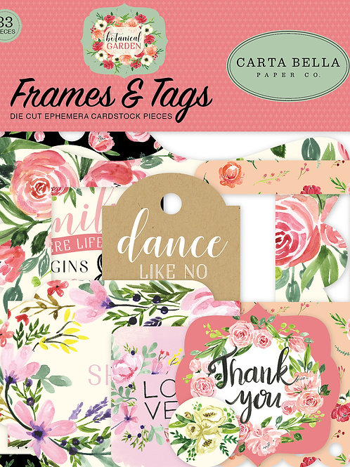 Carta Bella Paper - Botanical Garden Collection - Ephemera - Frames and Tags
