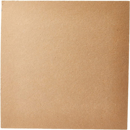 Grafix Medium Weight Chipboard Sheets, 12-Inch by 12-Inch, Natural
