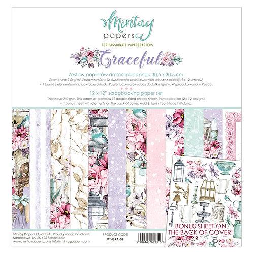 Mintay Graceful 12 x12 Paper Set