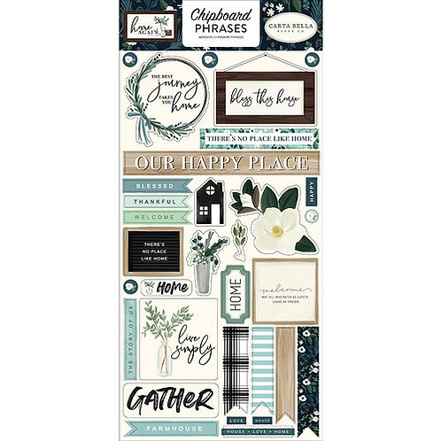 Carta Bella Paper - Home Again Collection - Chipboard Stickers