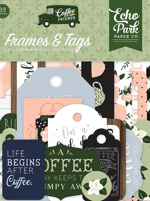 Echo Park Coffee & Friends Frames & Tags