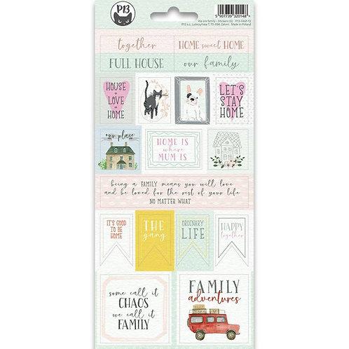 P13- Sticker Sheet We are Family Sticker Sheet 02, 10,5 X 23CM