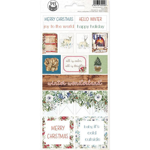 P13 - The Four Seasons Collection - Cardstock Sticker Sheet - Winter