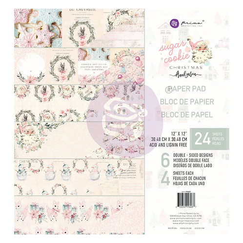 Prima Marketing Sugar Cookie Christmas  Collection  12×12 Paper Pad