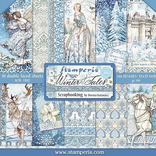 Stamperia's Winter Tale Scrapbook Paper 12x12