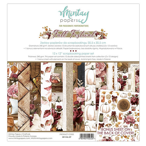 Mintay  Fall Festival 12x12 Paper Pack