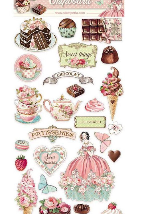 New Stamperia Sweety Chipboard