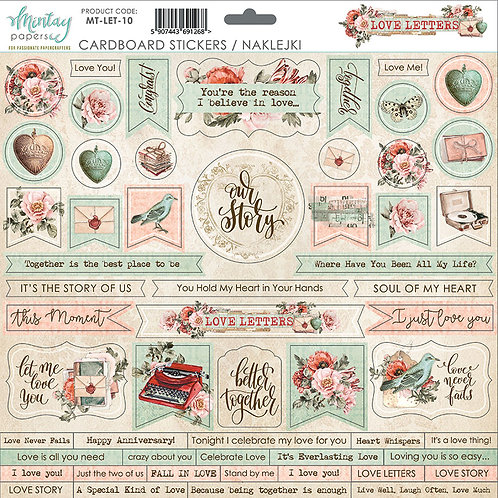 LOVE LETTERS-12 X 12 CARDSTOCK STICKERS