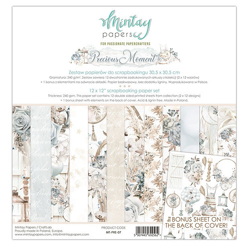 Mintay Precious Moment 12x12 Paper Collection
