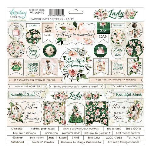 Mintay's Lady 12 X 12 Cardboard Stickers