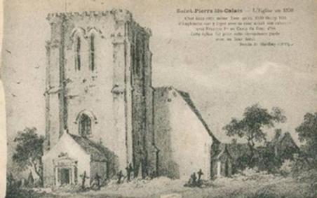 St Pierre Church (Calais) c1830