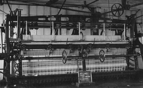 Longmire lace making machine, Nottingham 1904