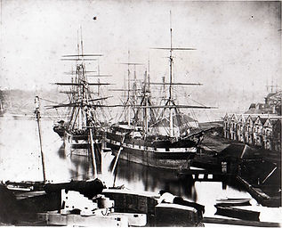 Sydney Harbour with Campbell's warehouses