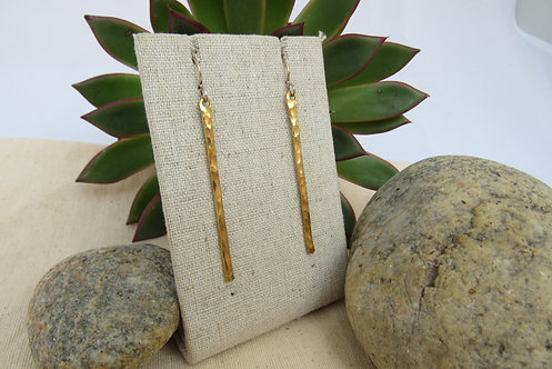 Brass Icicle Earrings