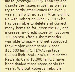3 Major Credit Cards…