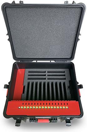 TransformerCase T16MC Pro® - Laden für bis zu 16 Geräte via USB + Zubehör