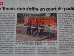Lancement Padel - Nice-Matin - 18/03/16