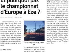 Championnat d'Europe de Padel à Eze ? Monaco-Matin