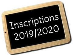 Inscriptions 2019/2020 jusqu'au 14 Septembre !
