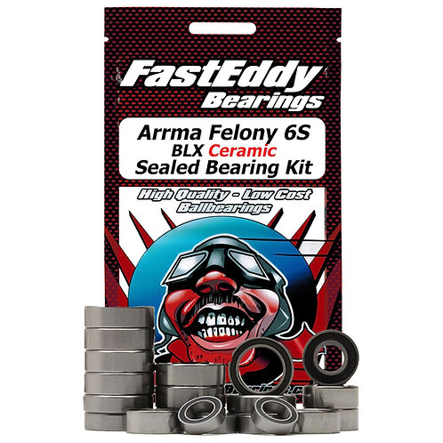 FAS EDDY Arrma Felony 6S BLX Ceramic Sealed Bearing Kit TFE6312
