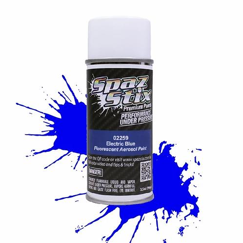 Spaz Stix - Electric Blue Fluorescent Aerosol Paint, 3.5oz Can