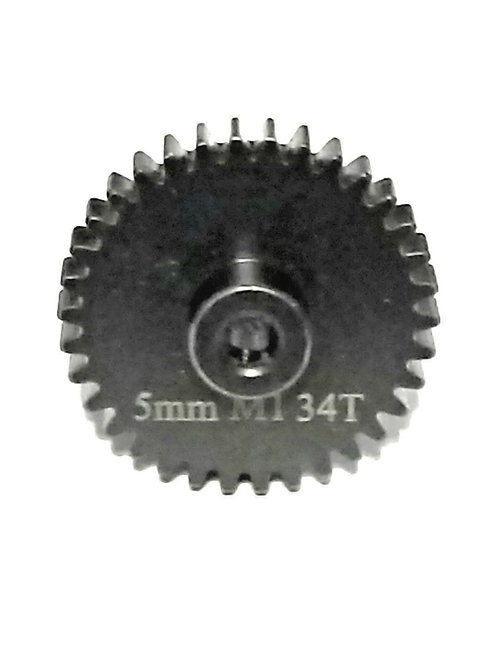 34T 5MM MOD-1 SAGA PINION GEAR *HARDENED STEEL*