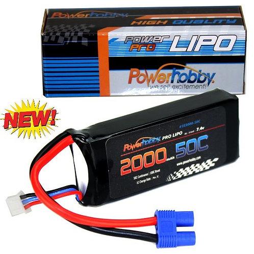 Powerhobby 2s 7.4V 2000mah 50c Lipo Battery with EC3 Plug