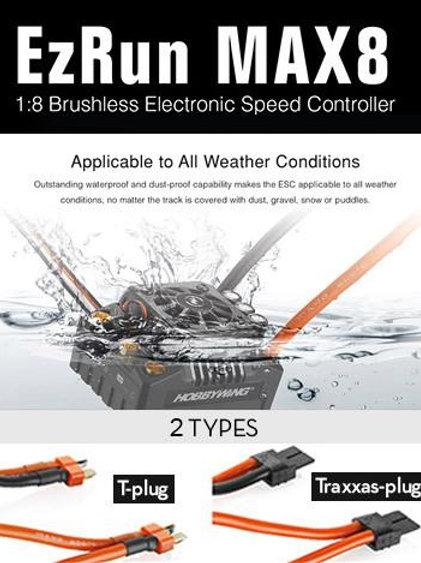 Hobbywing EZRun Max8 V3 Waterproof Brushless ESC