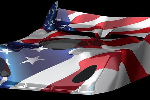 B4 DELTA PLASTIK USA PHANTOM X-1 SPEED RUN BODY FOR 1/10 SCALE