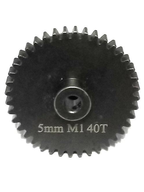 40T 5MM MOD-1 SAGA PINION GEAR *Hardened Steel*
