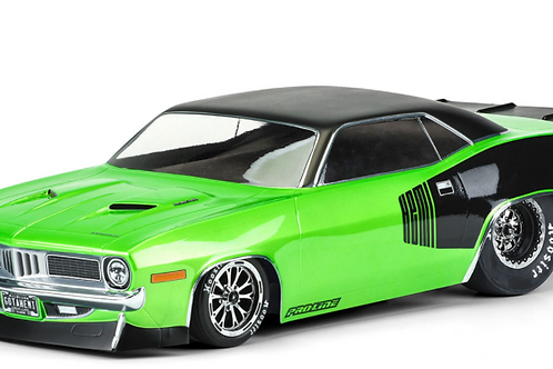 1972 Plymouth Barracuda Clear Body for Slash 2wd Drag Car & AE DR10