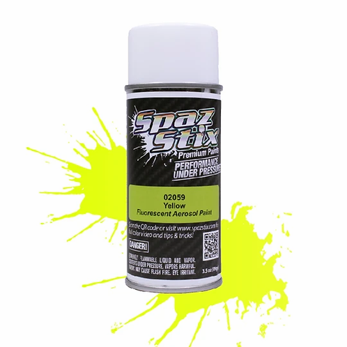Spaz Stix - Yellow Fluorescent Aerosol Paint, 3.5oz Can